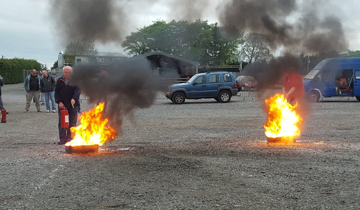 Fire Training at Glan-y-Gors